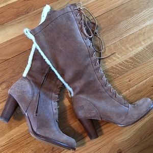 Ugg Heeled Lace Up Boots